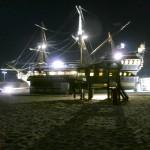 Varna, nachts am Strand